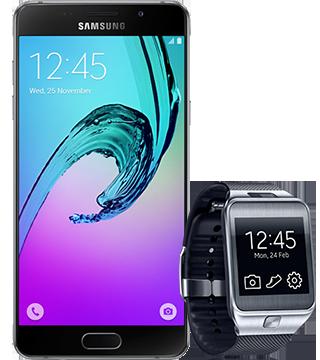 Resultado de imagem para samsung galaxy a5 2016 com relogio gear 2